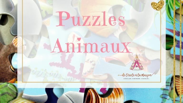 Puzzles animaux 2 pièces