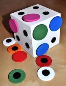 cubes couleurs velcro
