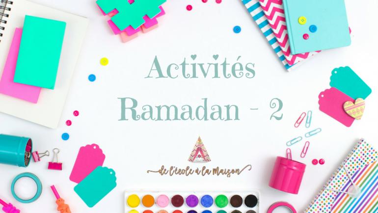 Partage d'activités autour du ramadan #2