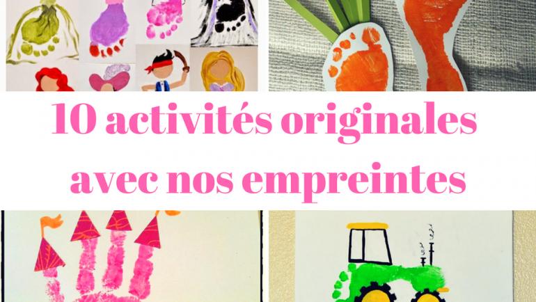 10 activités originales avec nos empreintes