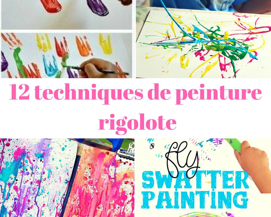 12 techniques de peinture rigolote