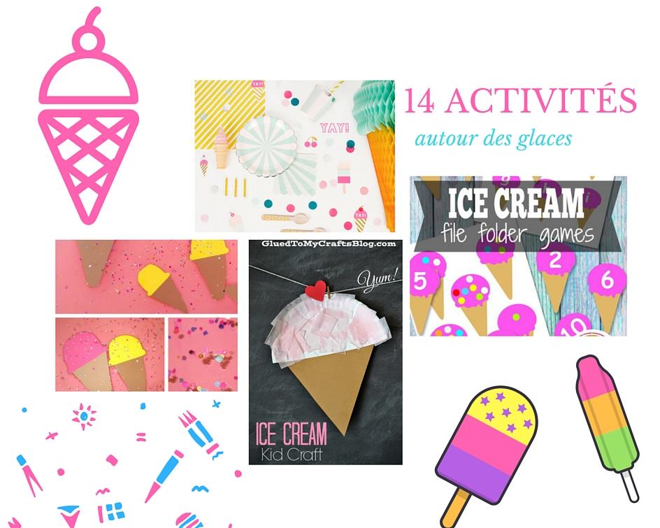 14 activit s manuelles autour des glaces - Activites manuelles petit ...