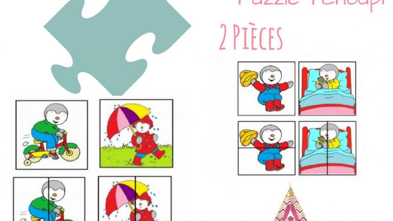 Puzzle Tchoupi – 2 pièces