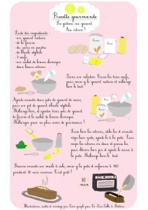 Le gâteau au citron illustré étape par étape