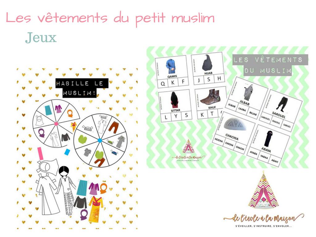 Les vêtements du petit muslim : jeux