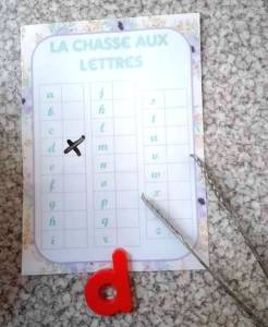 chasse lettres