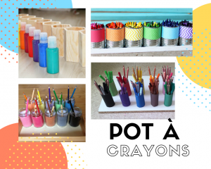 pot à crayons montessori