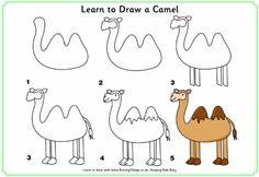apprendre a dessiner chameau