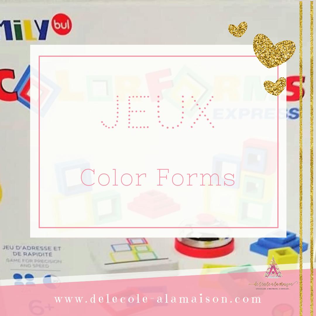 Jeu – Color Forms