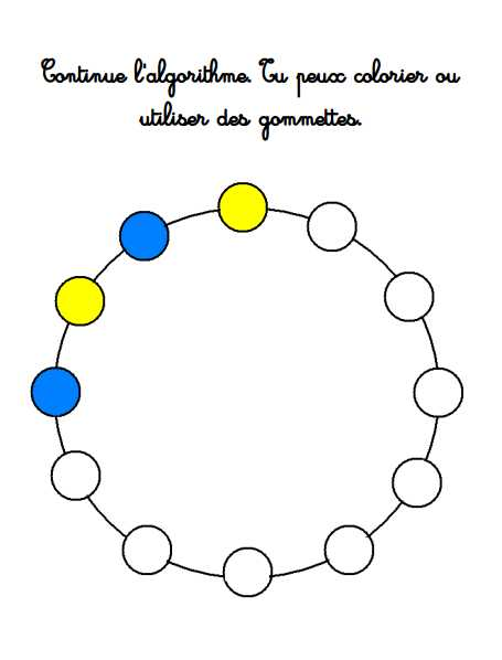 Algorithme : Collier à 2 couleurs