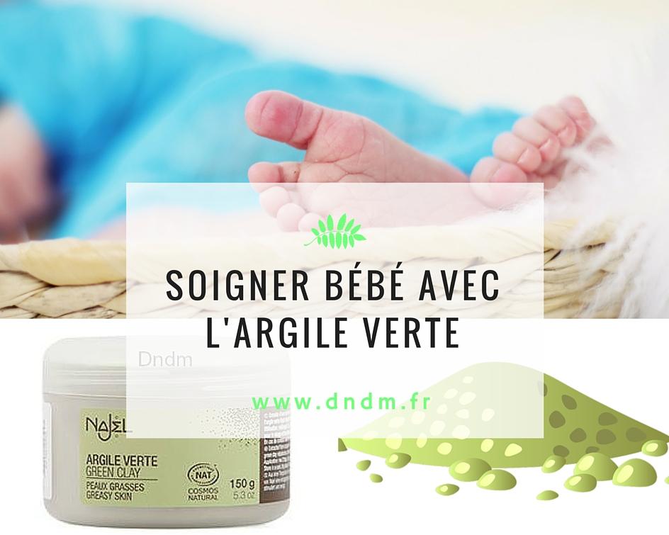 Soigner bébé avec de l'argile verte