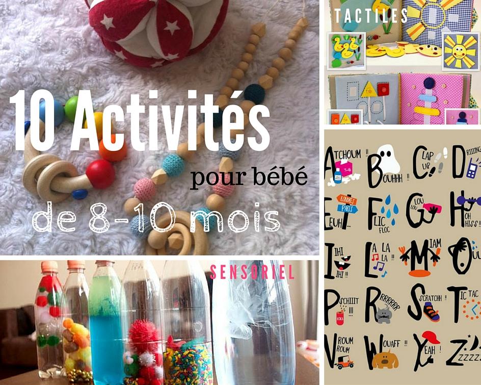 10 activités pour bébé 8-10 mois