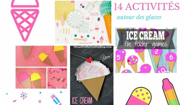 14 activités manuelles autour des glaces