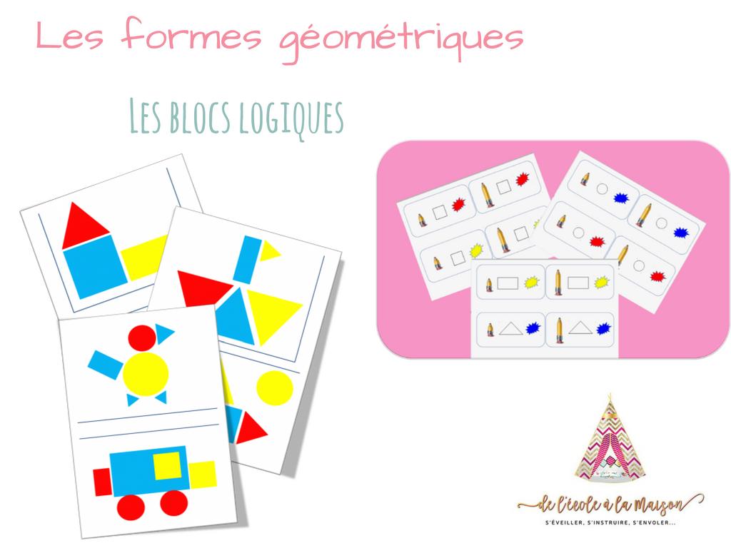 A la découverte des formes grâce aux blocs logiques