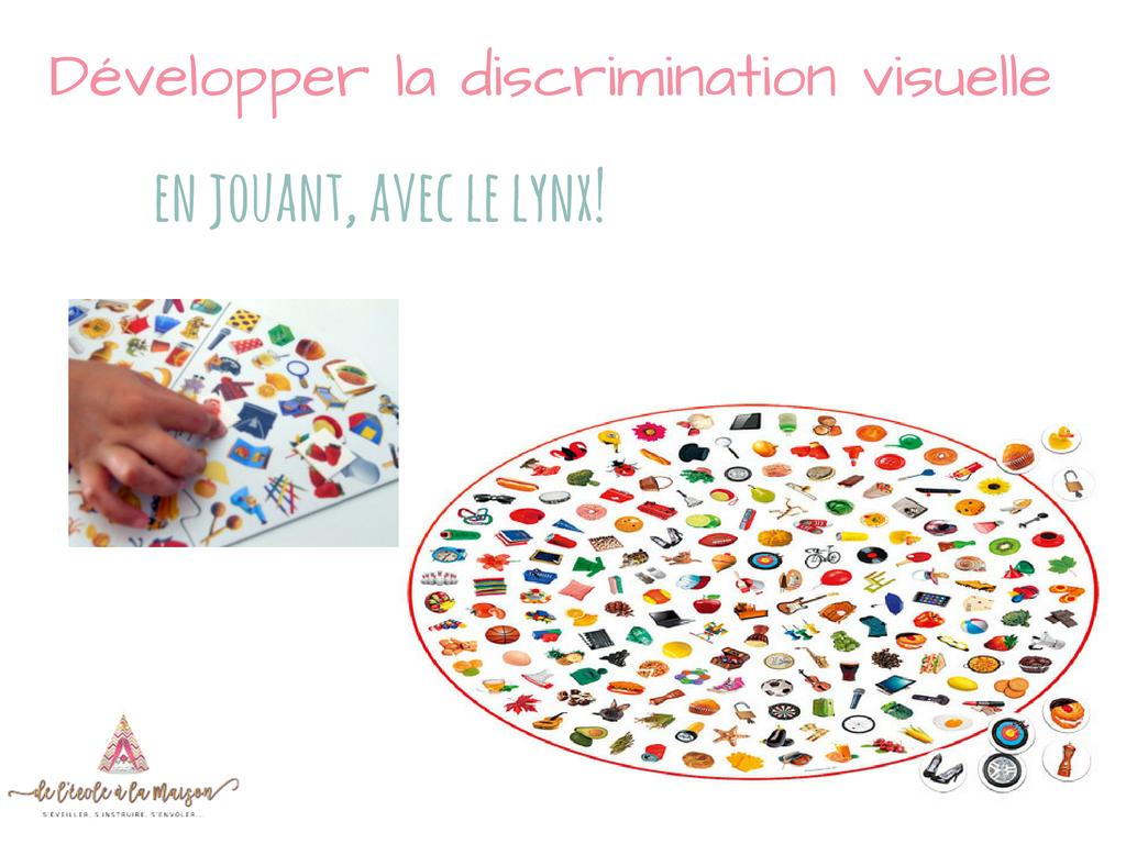 Développer la discrimination visuelle en jouant, avec le lynx!
