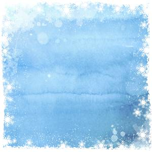 Christmas background with snowflake border on watercolor design