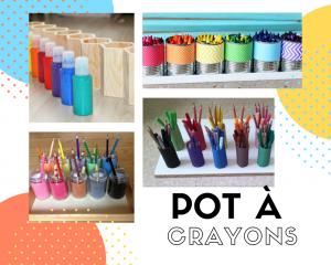 pot à crayons montessori