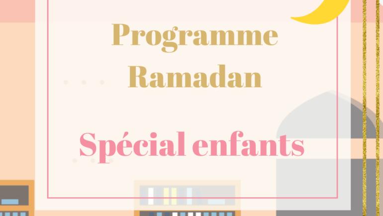 Programme ramadan pour enfants