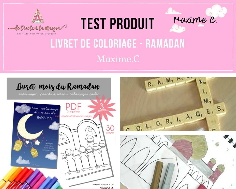 Livret de coloriage Ramadan by Maxime.C