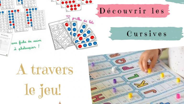 Des jeux pour découvrir les lettres cursives…